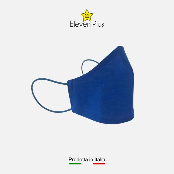 Mascherina da uomo idrorepellente, lavabile e riutilizzabile colore bluette