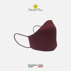 Mascherina da donna idrorepellente, lavabile e riutilizzabile colore bordeaux