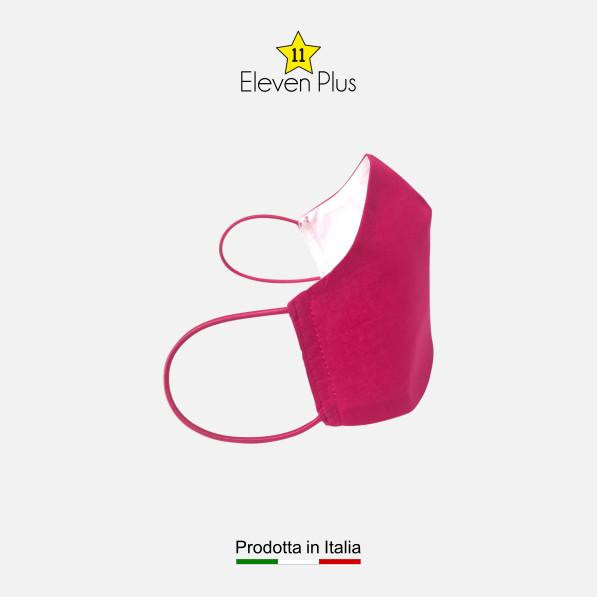 Mascherina da donna idrorepellente, lavabile e riutilizzabile colore fucsia