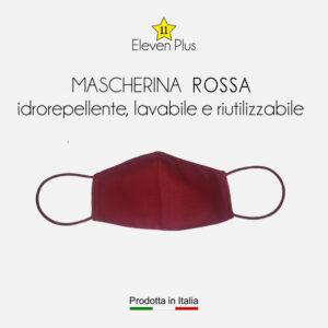 mascherina idrorepellente lavabile riutilizzabile ROSSA