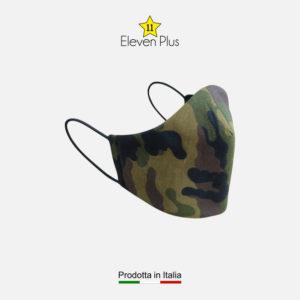 Mascherina idrorepellente, lavabile e riutilizzabile camouflage da uomo