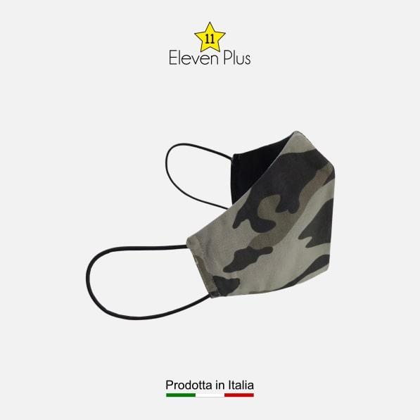 mascherina idrorepellente lavabile riutilizzabile mimetica camouflage grigia 2