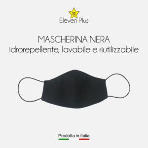 Mascherina idrorepellente, lavabile riutilizzabile colore nero