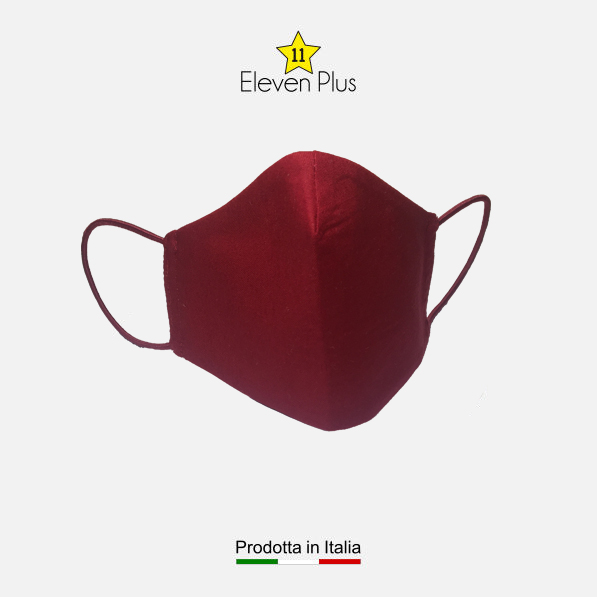 mascherina idrorepellente lavabile riutilizzabile rossa per tutte le taglie