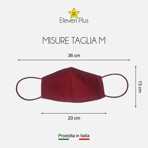 mascherina idrorepellente lavabile riutilizzabile rossa taglia m