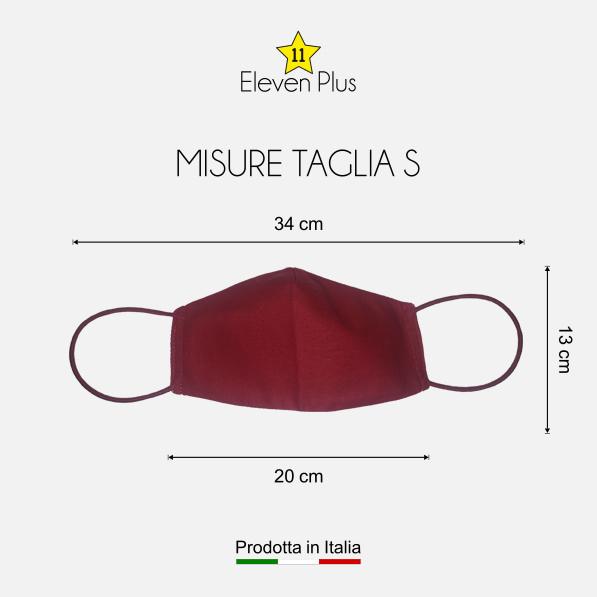 mascherina idrorepellente lavabile riutilizzabile rossa taglia s