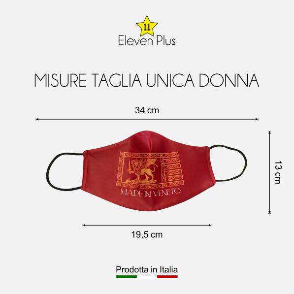 Mascherina idrorepellente, lavabile e riutilizzabile con bandiera di San Marco Veneto taglia unica da donna
