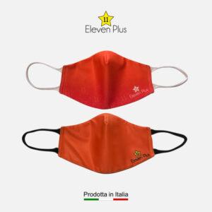 Mascherine idrorepellenti, lavabili e riutilizzabili colore arancione fluo
