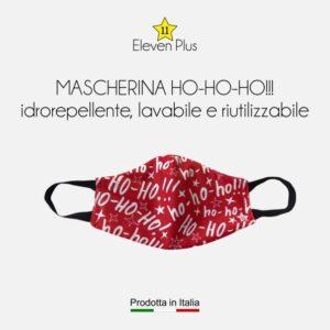 Mascherina idrorepellente, lavabile e riutilizzabile Natalizia Ho-Ho-Ho!!!
