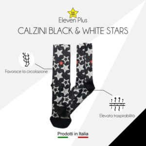 Calzini black & white stars