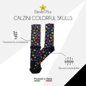 Calazini colorful skulls