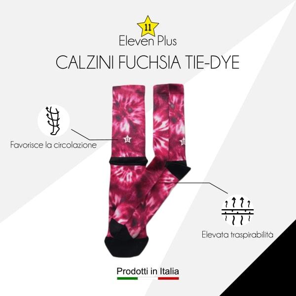 Calzini fuchsia tie-dye