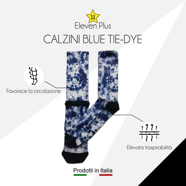 Calzini blue tie-dye